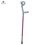 Muleta em Alumínio Vermelho Anodizado  (par) - MacroLife