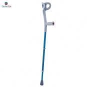 Muleta em Alumínio  Azul Anodizado (par) - MacroLife