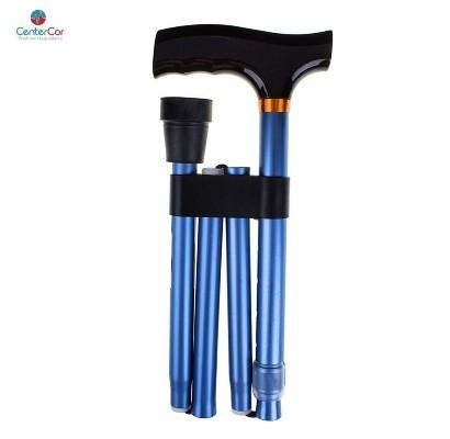 Bengala Tipo T dobrável Azul Anodizado - MacroLife