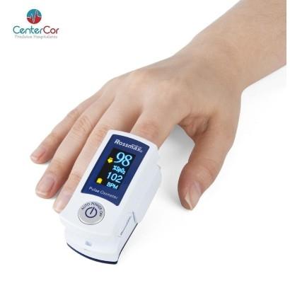 Oxímetro de Pulso Tipo Dedo com Visor Colorido e Alarme - Rossmax