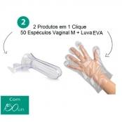 Espéculo Vaginal + Luva EVA Luva + 50 Unid. Espéculo M