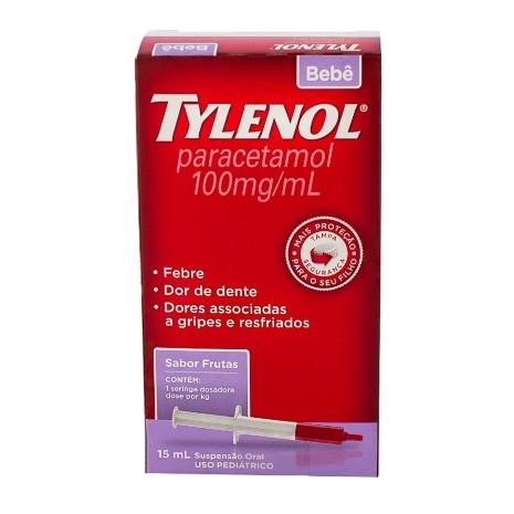 Tylenol Bebê 100mg/ml Gotas com 15ml