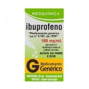 Ibuprofeno 100mg/ml Medquímica Genérico Gotas com 20ml