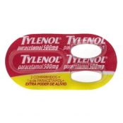 Tylenol 500mg Extra Poder de Alívio Envelope com 2 Comprimidos