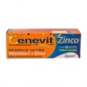 Cenevit Zinco Comprimidos Efervescentes com 10 Unidades