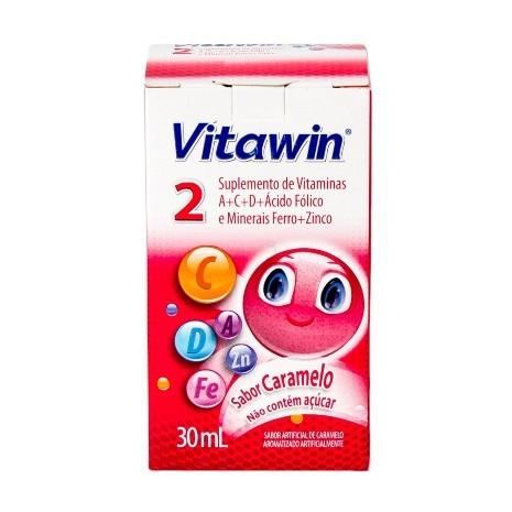 Vitawin 2 Gotas com 30ml Sabor Caramelo