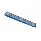 Tala Moldável Aramada em EVA com Velcro Tamanho P Azul