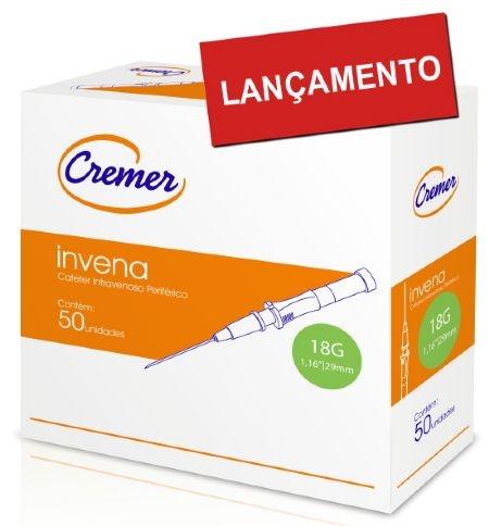 Cateter Intravenoso Periférico Invena 20G (Cx 2.000UN) Cremer