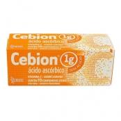 Cebion 1g Sem Açúcar Comprimidos Efervescentes com 10 Unidades Sabor Laranja
