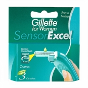 Carga Gillette Sensor Excel For Women com 3 Unidades