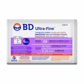 Seringa BD Ultra-Fine Insulina 30U Agulha Curta 6mm com 10 Unidades