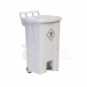 Coletor para material hospitalar com tampa e pedal - 100 litros