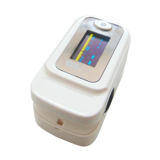 Oxímetro de Pulso Portátil (Dedo) com Curva e Alarme Branco OM403 - STI MEDICAL