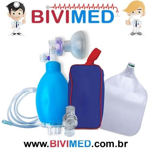 AMBU SILICONE INFANTIL COM RESERVATÓRIO PVC
