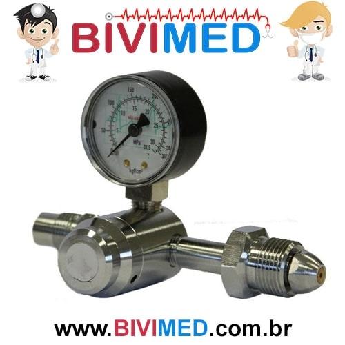 Regulador de Pressão para Cilindro 1 manômetro com 1 saídaNitrogênio