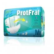 fralda geriátrica protfral - tamanho m - 30 unidades