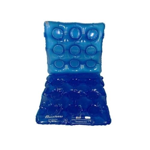 almofada caixa de ovo de gel quadrada com encosto aquasonus