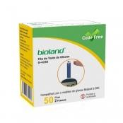 tiras reagentes para medidor de glicose bioland g500 com 50 unidades