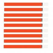 pulseira ident papel laranja c/100 promoband