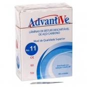 lâmina bisturi advantive carb 11 c/100