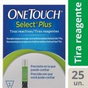 tiras p/ glicose c/ 25 onetouch select plus flex j&j