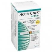 tiras accu-chek active c/25un roche