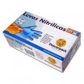 luva nitrilica descarpack n/est azul s/pó m c/100