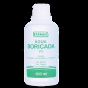 AGUA BORICADA 100ml FARMAX C/CONTA GOTAS C/12