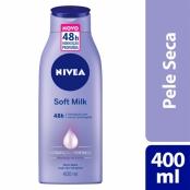 Loção Nivea Soft Milk para Pele Seca 400ml