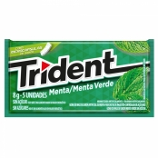 Chiclete Trident Menta 8g com 5 Unidades
