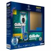 Kit Aparelho de Barbear Gillette Mach 3 Acqua Grip e 3 Cargas Mach 3 e Ganhe 1 Espelho