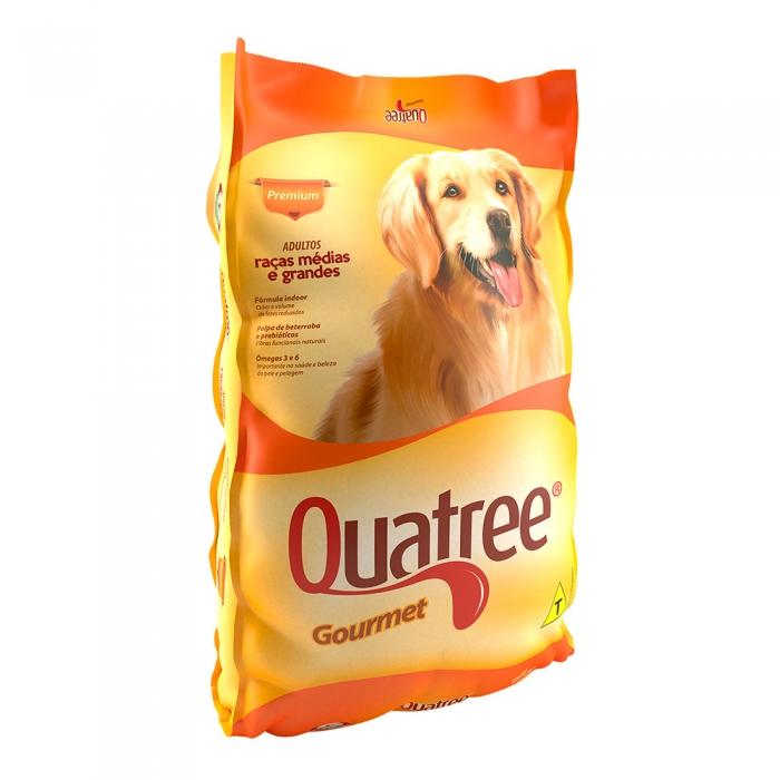 Ração para Cães Quatree Gourmet Adultos Raças Médias e Grandes 25kg