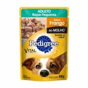 Ração para Cães Pedigree Vital Pro Adultos Raças pequenas Sabor Frango ao Molho Sachê 100g