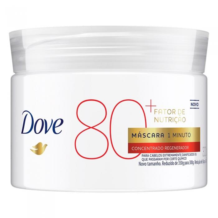 Máscara de Tratamento Dove 1 Minuto Fator de Nutrição 80+ 300g Máscara de Tratamento Dove 1 Minuto Fator de Nutrição 80+ Concentrado Regenerador 300g