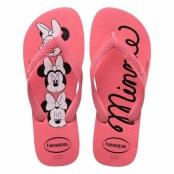 Sandálias Havaianas Top Disney Minnie Rosa Porcelana Tamanho 35/36 com 1 Par