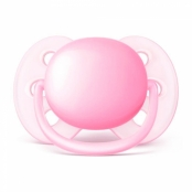 Chupeta Philips Avent Ultra Soft Tamanho 1 de 0 a 6 Meses Rosa 1 Unidade