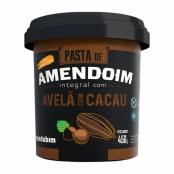 Pasta de Amendoim Integral Mandubim com Avelã e Cacau Sem Açúcar 450g