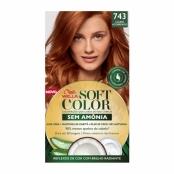 Tintura Soft Color Sem Amônia Louro Acobreado 743 Kit