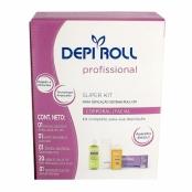 Depilador DepiRoll Super Kit com Aparelho Aquecedor Bivolt, Suporte Aparelho Aquecedor + Refil Cera Roll-on Tradicional 100g + Óleo Pós Depilatório 100ml + 20 Lenços TNT para Depilação 23cmx7,5cm