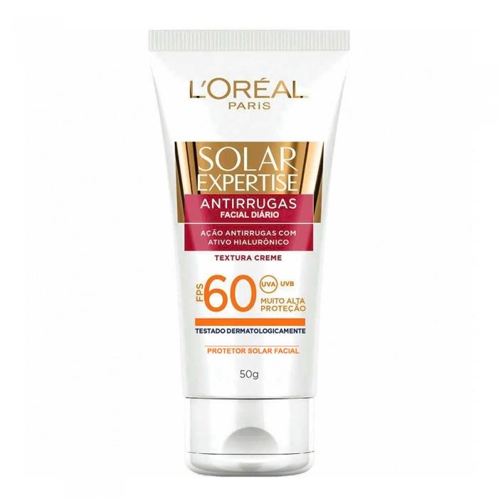 Protetor Solar Facial L'oréal Solar Expertise Antirrugas FPS 60 Creme com 50g