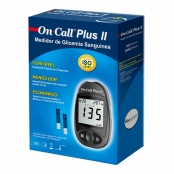On Call Plus II Kit Monitor de Glicemia com 1 Monitor + 10 Lancetas + 1 Lancetador