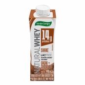 Shake Natural Whey Verde Campo Sabor Cacau com Chocolate com 250ml