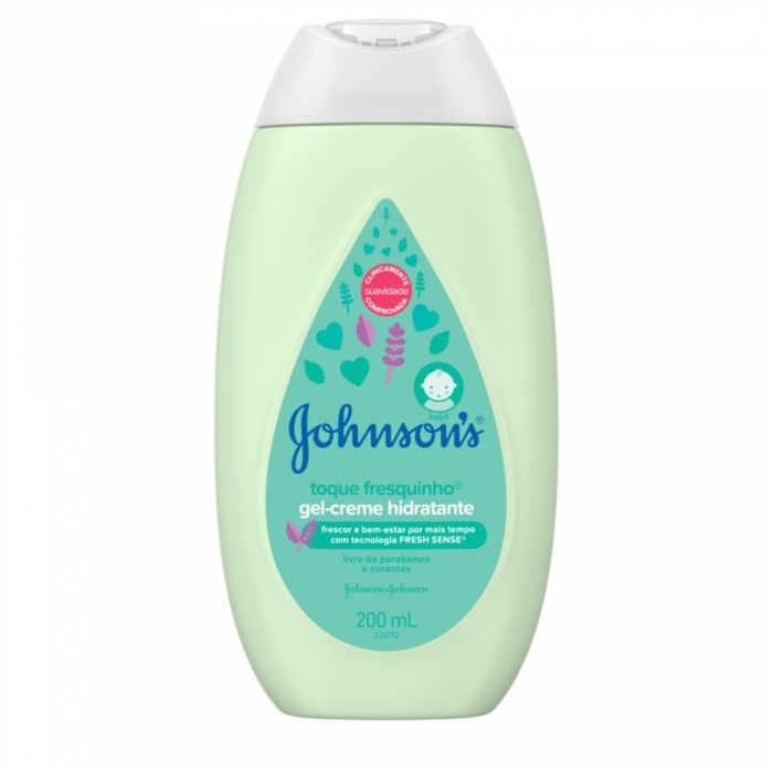 Gel-Creme Hidratante Johnson's Baby Toque Fresquinho 200ml