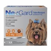 NexGard Contra Pulgas e Carrapatos para Cães de 2 a 4kg com 1 Tablete Mastigável