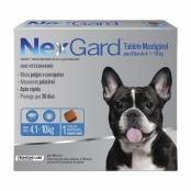 NexGard Contra Pulgas e Carrapatos para Cães de 4,1 a 10kg com 1 Tablete Mastigável