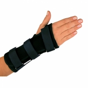 Órtese Curta para Punho com Tala Mercur Mão Direita Tamanho M Cor Preto com 1 Unidade