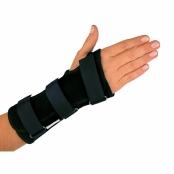 Órtese Curta para Punho com Tala Mercur Mão Direita Tamanho G Cor Preto com 1 Unidade