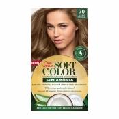 Tintura Soft Color Sem Amônia Louro Natural 70 Kit