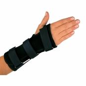 Órtese Curta para Punho com Tala Mercur Mão Esquerda Tamanho G Cor Preto com 1 Unidade