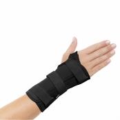 Órtese Curta para Punho com Tala Mercur Mão Esquerda Tamanho P Cor Preto com 1 Unidade